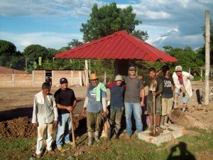 Daniel Harrison (Jenny's son) working with his Christian brothers in Choluteca, Honduras.