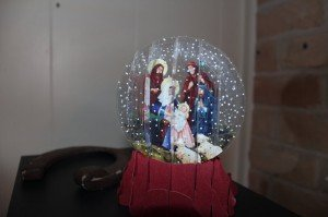 A card I have that makes the Nativity look like a snowglobe