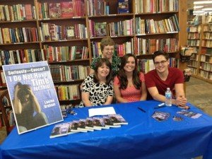 Lauren Graham and family at book signing in Corpus Christi,Texas